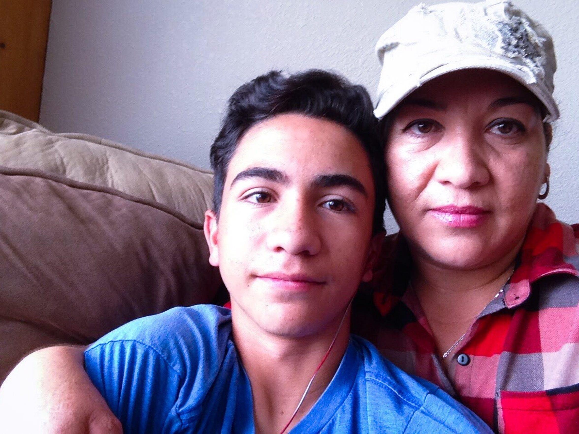 Favian Soto and his mom, Maria