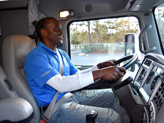 Eugene Cuff, recently earned his CDL from TCC. He's now enrolled in classes, while living at the Kearney Center.