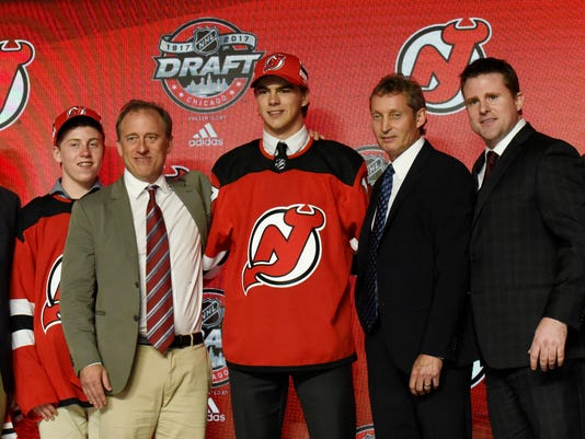 lowest price 46f39 7a504 Devils pick Nico Hischier first overall in 2017 NHL draft
