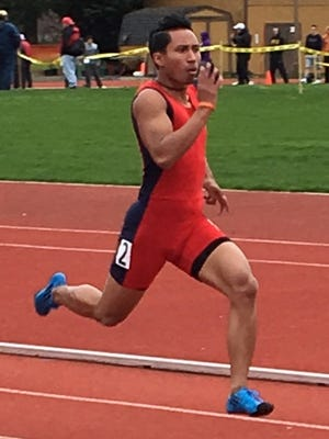 Bleu Perez at the PLU Invite held at Pacific Lutheran University.