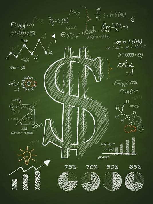 Dollar Sign and financial planning - Green Chalkboard
