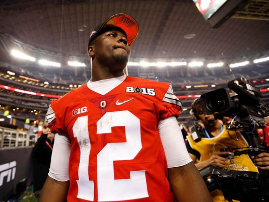 online store b6546 857bc Column: Cardale Jones adds to legacy by staying