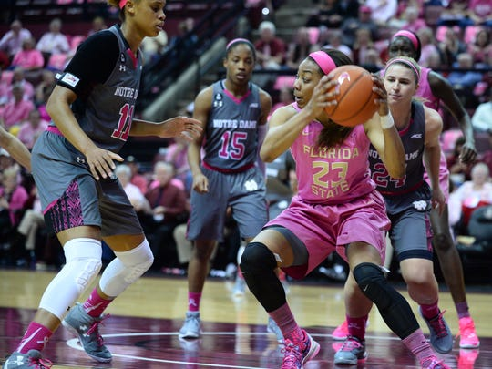 Ivey Slaughter provided a spark for FSU against Notre Dame scoring 15 points and pulling down 10 rebounds