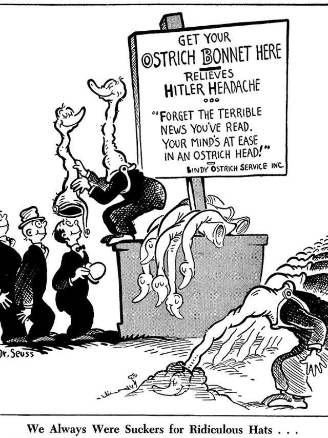 Dr  Seuss's political cartoons re-emerge amid criticism of
