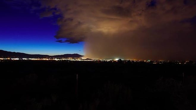 This photo of the May 22 dust storm that descended on Reno was taken by Scott McGuire at the National Weather Service.