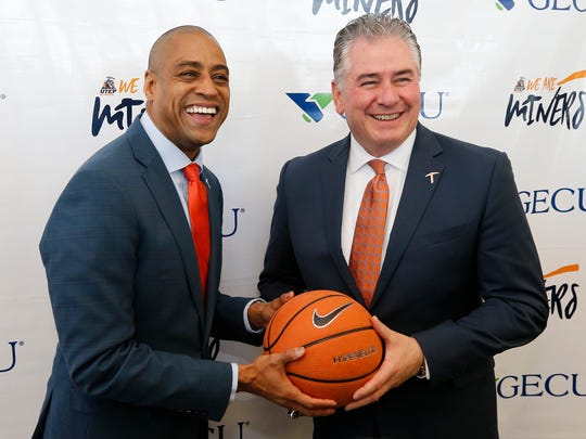 Rodney Terry was named the 19th head coach at UTEP Wednesday afternoon by Director of Athletics Jim Senter in a packed Foster-Stevens Basketball Center. Terry comes to UTEP form Fresno State after serving as their head coach for the past seven seasons, leaving there with a record of 126-108.