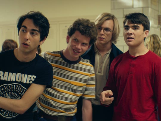 Alex Wolff (from left) Tommy Nelson, Ross Lynch and