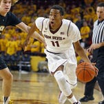 Sophomore guard Calaen Robinson is leaving Arizona State.