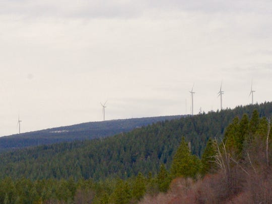 A company is proposing building more wind turbines west of Hatchet Ridge near Burney.