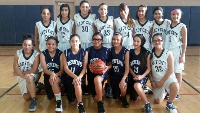 The Red Mountain Middle School Lady Wildcat seventh grade turned in a competitive season on the hardwood. The seventh-grade girls were 15-5 overall. They are, standing from left, Nicole Lopez, Astrid Sandoval, Precious Calanchi, Jazmine Ochoa, Brooke Huerta, Chloe´ Johnson, Heaven Pioquinto and Krista Jimenez. Kneeling from left are Kelci Brown, Jocelyn Cardoza, Evelyn Ramirez, Anne Marie Magana, Merraya Molinar, Adryana Jaquez and Jessalyn Olivas, Not pictured are Julissa Chavez and manager Alizae Acosta.