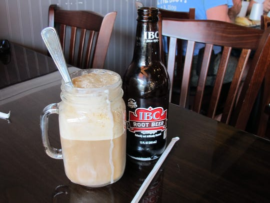 Root beer floats are served in Mason jars at Jimmy's P's Burgers & More, which recently opened in Pipers Crossing retail center, where Airport-Pulling meets Immokalee Road in North Naples.