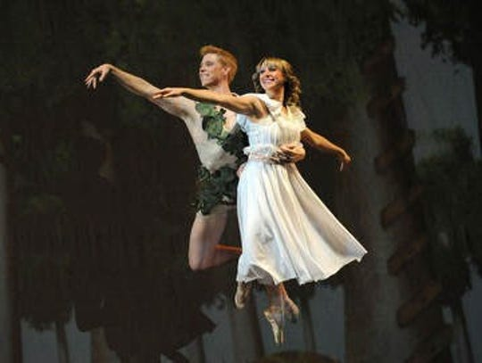 "Scene from the A.V.A. Ballet Theatre's performance of ""Peter Pan"" in 2013."