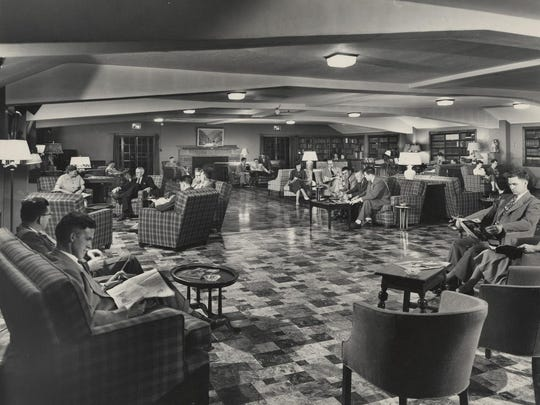 IBMers relaxing at the IBM Country Club, about 1945.