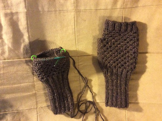 Jenna's mitts are almost done. Can I finish them before I leave for Vogue Knitting Live on Friday?