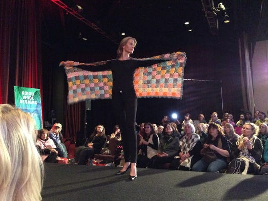 The Koigu fashion show at Vogue Knitting Live in New York in 2015 demonstrated some of the many designs created with Koigu's colorful hand-painted yarns.