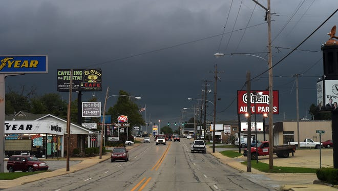 A file photos of Impending severe weather