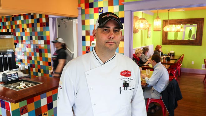 Chef Fernando Martinez at another Taco Luchador restaurant. He plans to open another location downtown.