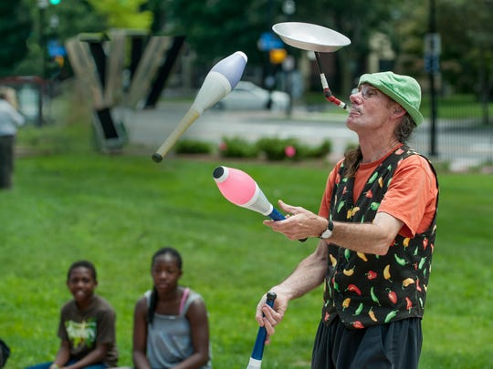 Juggler Rick Simpson will be at the MAG's Centennial Sculpture Park Family Day.