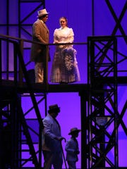 "Brewster's Megan Campbell, a Metro-winning leading actress last year, had two leading roles this spring: Marian in ""The Music Man"" in Brewster and Mother in ""Ragtime"" at Stepinac, seen here, alongside Stepinac sophomore Jeremy Fuentes, who won the leading-actor Metro last year. Stepinac, a Catholic boys school in White Plains, recruits actresses from across the region to fill female roles in its casts, making it likely that a school's top female talent will be featured in two productions in the course of a season. Campbell is scheduled to take part in Pedro's Open Mic on May 12 at Harrison High School. Reservations -- $5 for adults, free for students -- are required, at tickets.lohud.com."