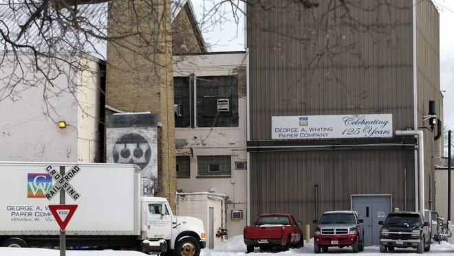 The George A. Whiting Paper Co. in Menasha was renamed Whiting Paper Co. when it was purchased in 2014.   Sharon Cekada/Post-Crescent Media