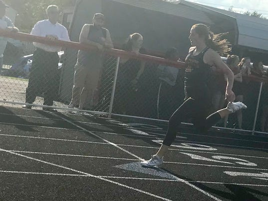 North Union girls track Abby Davis