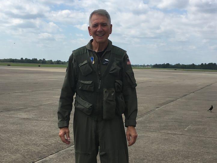 U.S. Rep. Ralph Abraham, R-Alto, prepares to board