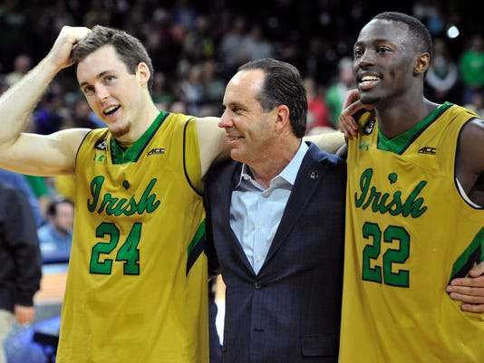 Pat Connaughton, Mike Brey, Jerian Grant