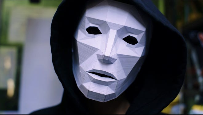 """Behind the mask is Addison Timlin in """"Like Me."""""""