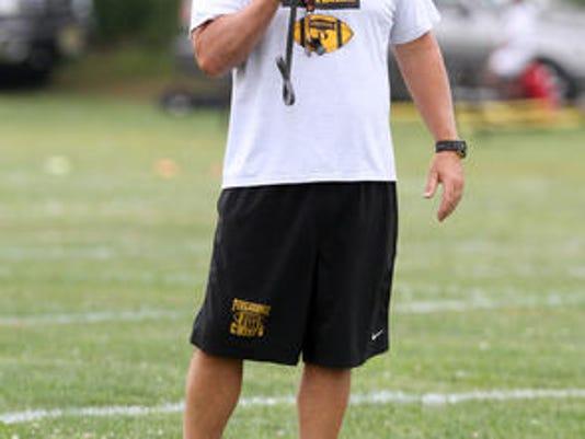 Piscataway football coach Dan Higgins