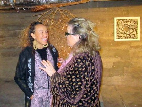 Artist and gallery owner Paula Wilson, left, and Joan
