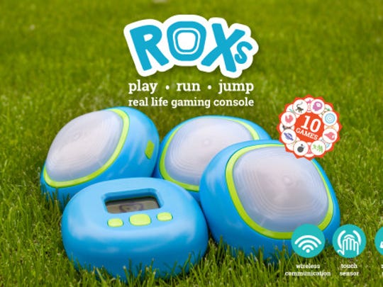 Kids can use ROXs to play pre-programmed video games