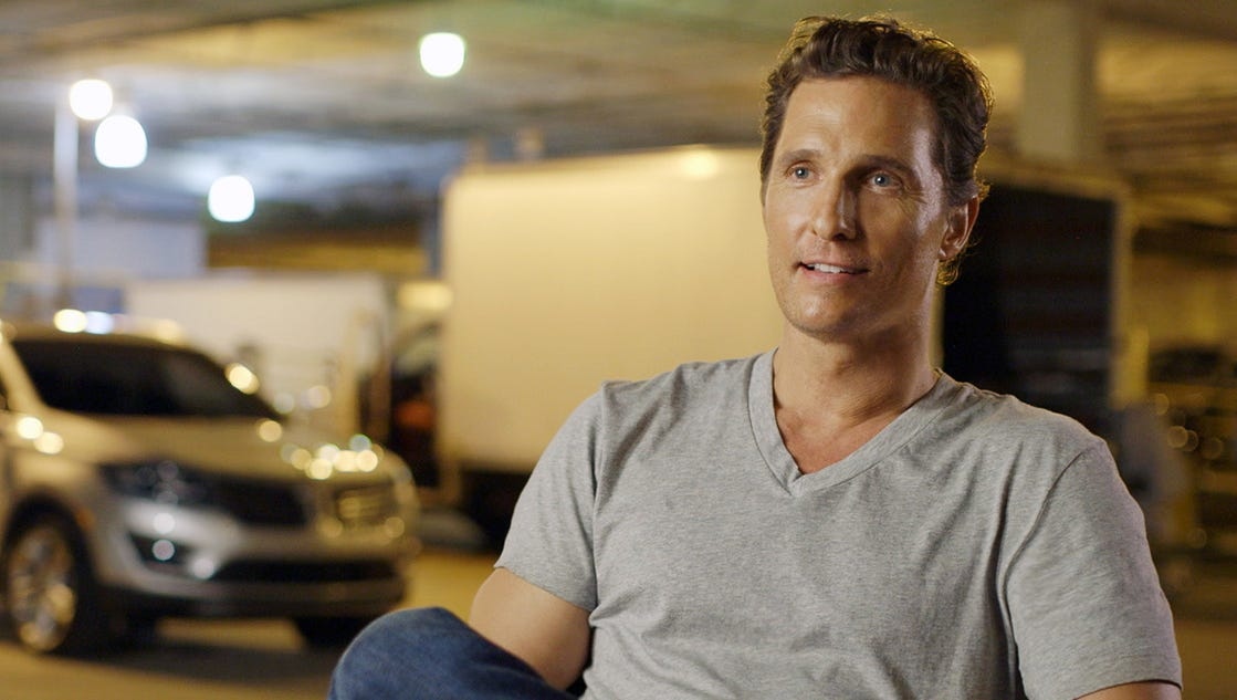 can actor matthew mcconaughy make lincolns sexy. Black Bedroom Furniture Sets. Home Design Ideas