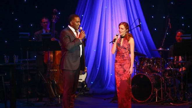 """Entertainers Norm Lewis and Laura Osnes singing """"If I Loved You"""" from """"Carousel"""""""