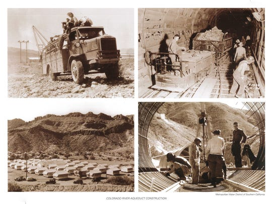 Construction of the aqueduct.