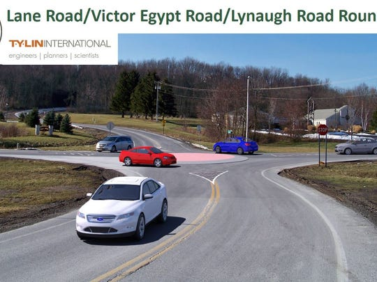 The Route 96 Transformative Corridor Strategic Infrastructure Plan includes a roundabout.