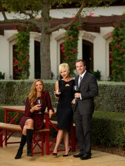 Nannette Staropoli  with Brian and Sonya  Sawyer at Talis Park in Naples.