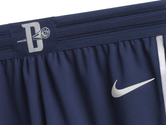 A look at the shorts that are part of the Pistons'