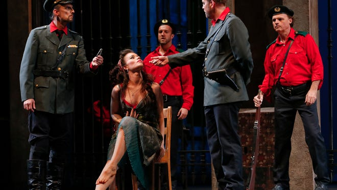 """Ginger Costa-Jackson, shown here as Carmen in a recent production at Vancouver Opera, will appear as Bizet's tragic heroine in MOT's upcoming production of """"Carmen."""""""