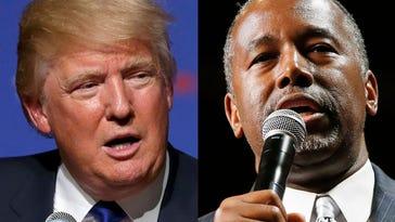 Donald Trump and Ben Carson. (AP)