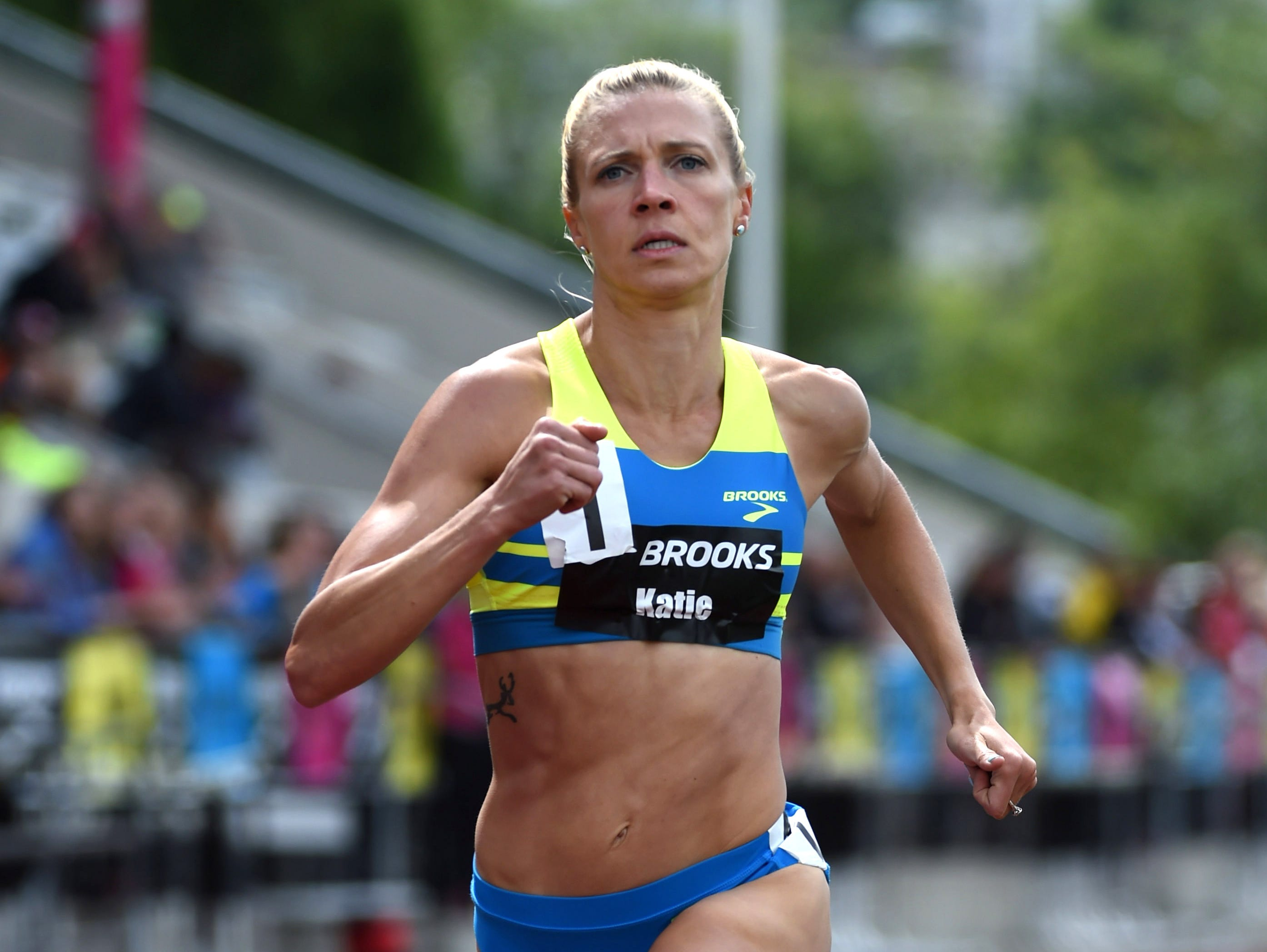 Former Fort Collins High School standout Katie Follett, shown here winning the 1,500 at a meet June 18 in Renton, Washington, had the second-fastest qualifying time in the 5,000 Thursday at the U.S. Olympic Trials in Eugene, Oregon. She'll compete for a spot on the U.S. team for the Rio Olympics in the final Sunday night.