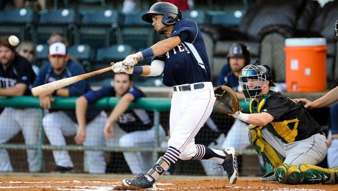 Evansville's Christopher Riopedre (10) bats during a game against Normal at Bosse Field in Evansvill earlier this week.