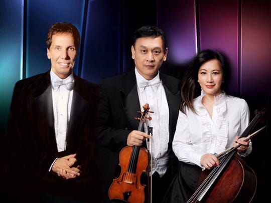 Richard Bosworth, left, Ming Gao and Si-Cheng Liu offer trios from deep classical to Led Zeppelin on Tuesday.