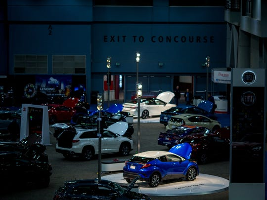 Wed., Feb. 7, 2018: More than 400 vehicles fill Duke Energy Convention Center for the Cincinnati Auto Expo Wednesday, February 7, 2018. The Expo is open from Wednesday, Feb. 7-Sunday, Feb. 11.