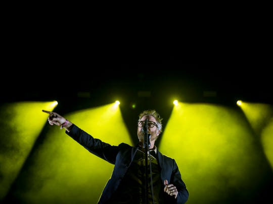 The National performs at Homecoming Festival on the west stage at Smale Riverfront Park Sunday, April 29, 2018. It was the first music festival at Smale Riverfront Park.