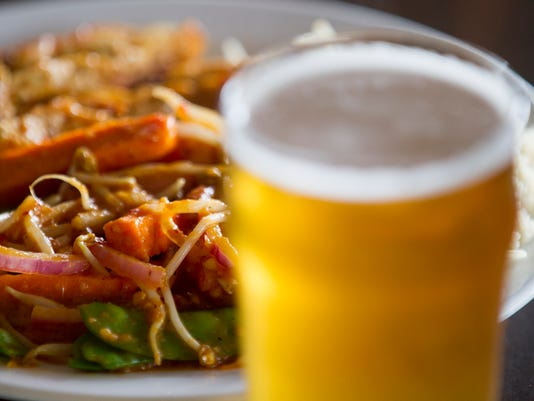 Mexirean stir fry with beer