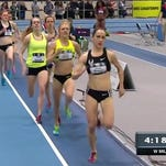 Fort Collins High School grad Katie Mackey (second) finished second in the women's 1-mile run at the USA Track and Field Indoor National Championships in Boston Saturday. She complete the race in 4 minutes, 34.83 seconds.