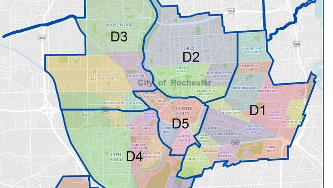 City police patrol Rochester in these five sections.
