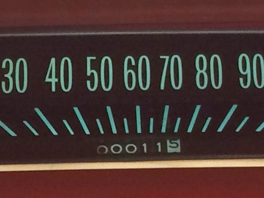 Barely 11.5 miles have been registered on the odometer