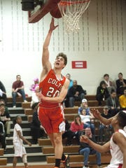 Cumberland's Casey Ordille shoots during the 1st quarter