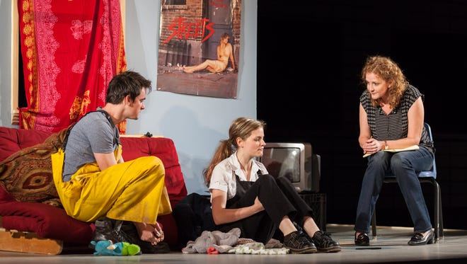 "David McElwee, Lexi Lapp and Wendy Rich Stetson in Actors Theatre of Louisville's production of ""Luna Gale"" by Rebecca Gilman."